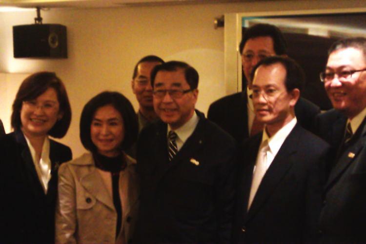 國民黨中央黨部秘書長廖了以晚宴
